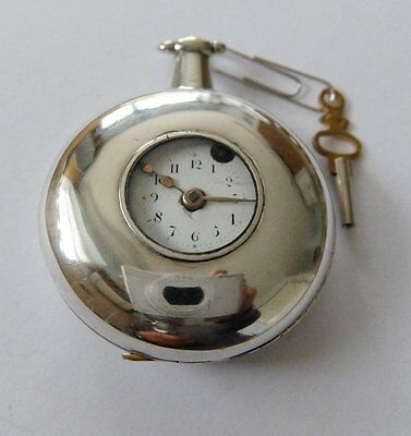 1809 Silver Consulate Cased Half Hunter Verge Fusee Pocket Watch Goldsmith Londo