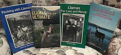 4 BOOKS Llamas are the Ultimate ~ Packing with Llamas ~ Llamas For Love & Money