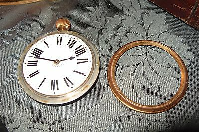 Large Vintage Pocket Watch Goliath 65mm  8 DAY WINDING  WATCH