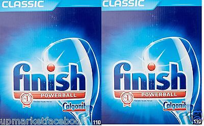 2x110 = 220 FINISH Classic POWERBALL Dishwasher Tablets Cheapest Deal