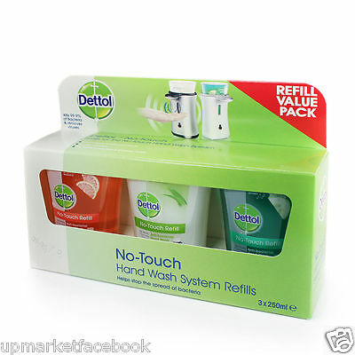 6 X DETTOL NO TOUCH Handwash Hand wash REFILL GRAPE FRUIT, CUCUMBER & ALOE VERA