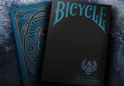 Scarab Blue Deck Bicycle Playing Cards Poker Size USPCC Custom Limited Ed Sealed