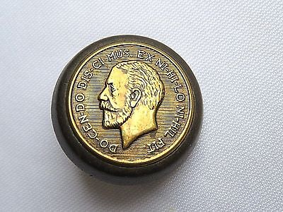 Fabulous Antique Mans Figural Head Coin Picture Button Brass On Wood Exc   Lot 3