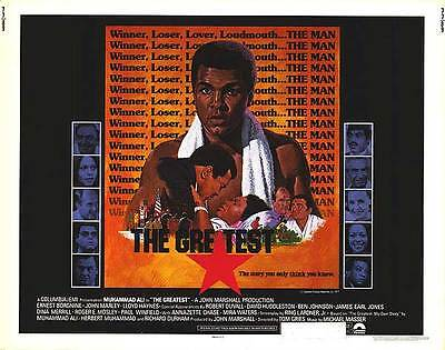 THE GREATEST original 1977 22x28 BOXING movie poster MUHAMMAD ALI