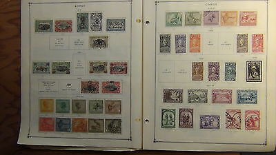 Congo  stamp collection on Scott International  pages to '80s or so