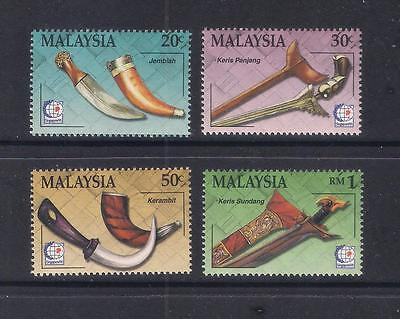 (MNH9X163) MALAYSIA 1995 Traditional Malay Weapons Stamp Exh complete set MNH