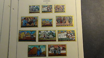 Guinea stamp collection on Scott International  pages to '80 or so