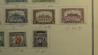 Italian Fiume stamp collection on Scott International  pages