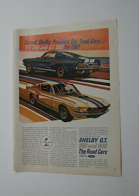 1966 Ford Shelby G.T. Mustang Color Print Ad