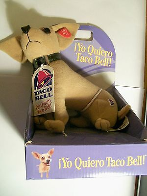 1998 TACO BELLE YO QUIERO TALKING CHIHUAHUA Retail Stopre Vrsion NEW in Box