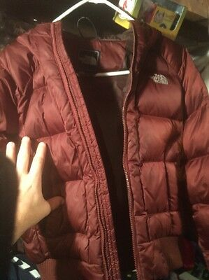 BEAUTIFUL WOMEN'S NORTH FACE DOWN FILLED HOODED COAT / JACKET sz ( XS ) 550