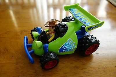 Toy Story 3 Woody Race Car 2009 Disney Pixar Shake-N-Go Talking Car