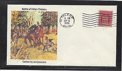 Battle Of Fallen Timbers Fdc 1929 Toledo, Ohio Only One Made