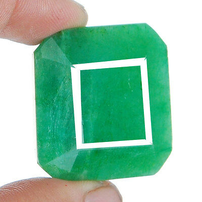 137 Cts Natural Brazilian Emerald Pendant Size Finest Green Rare Huge Gemstone