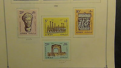 Lebanon stamp collection on Scott International pages to '80 or so