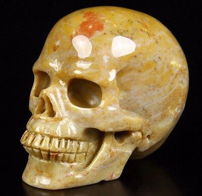 """2.4"""" AGATE Carved Crystal Skull, Realistic, Crystal Healing"""