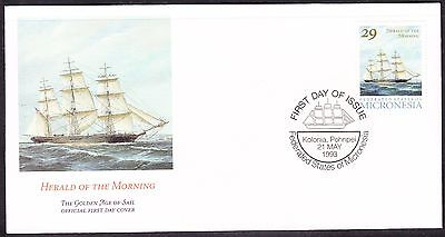 """Micronesia 1993 """"Herald of the Morning"""" Sailing Ship -  First Day Cover."""
