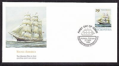 """Micronesia 1993 """"Young America"""" - Sailing Ship -  First Day Cover."""