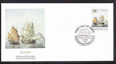 """Micronesia 1993 """"Rainbow"""" - Sailing Ship -  First Day Cover."""