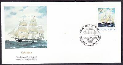 """Micronesia 1993 """"Courier"""" - Sailing Ship -  First Day Cover."""