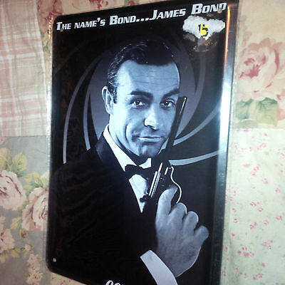 Sean Connery James Bond 007 Photo Sign 8.5 in X 6 in Metal sign collectible NEW