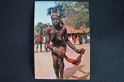 1960's Vintage Africa in Pictures Postcard HOA-QUI 3217  Dancing-Girl With Scarf