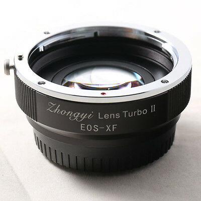 Zhongyi Focal Reducer Booster Turbo II Canon EF EOS Lens to Fujifilm X Adapter