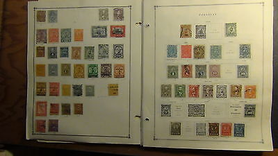 Paraguay stamp collection on Scott International pages to '77