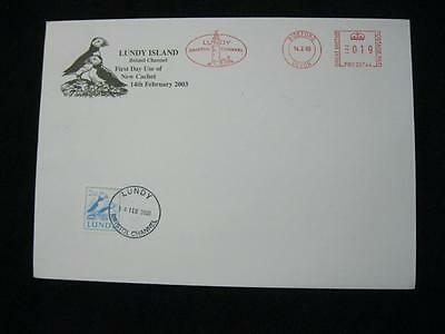 Lundy Stamp Used On 2003 Cover