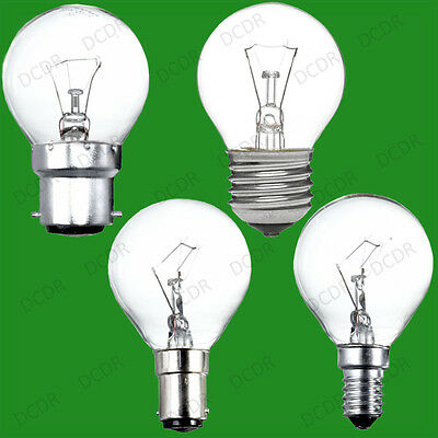 4x Clear Golf Round Dimmable Standard Light Bulb 25W 40W 60W BC ES SBC SES Lamps