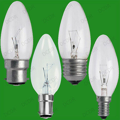12x Clear Candle Dimmable Standard Light Bulbs 25W 40W 60W BC ES SBC SES Lamps