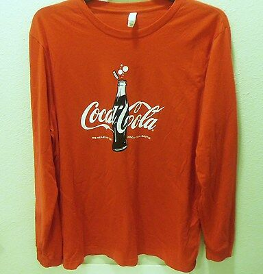 Red Long Sleeved Coca Cola Shirt XL New