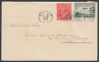 1929 Australia Adelaide First Airmail to Perth FFC