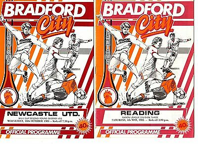 1984-1985 Bradford City  Home Programmes - select the one you want