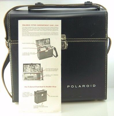 Vintage POLAROID FITTED CAMERA COMPARTMENT CASE 324 Large excellent condition