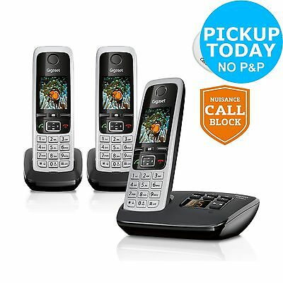 Gigaset C430A Cordless Telephone with Answer Machine -Triple From Argos on ebay