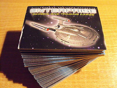 Star Trek Enterprise Temporada 1 Basic Conjunto De 81 Tarjetas