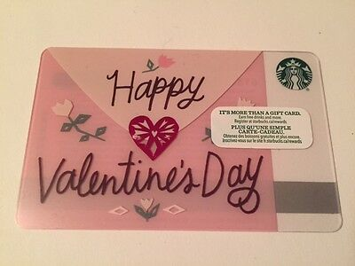 "Canada Series Starbucks ""HAPPY VALENTINES 2017"" Gift Card - New No Value"