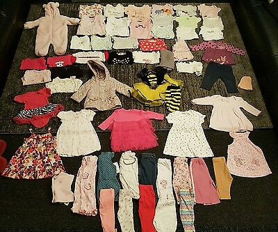 Baby Girls 3-6 Months clothes Bundle 60 items