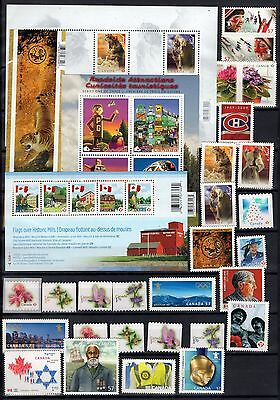 A12080/ Canada / Lot Stamps 2009 - 2010 / Mint Mnh 113€