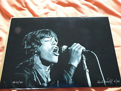 2 Mick Jagger Rolling Stones Limited Edition photographic prints, mint condition
