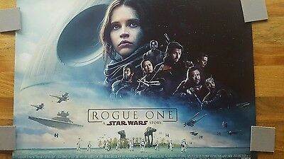 Rogue one - Cinema Quad - film poster - never displayed