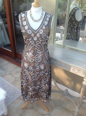 Mother Of Bride Tapework Lace Dress Size 14