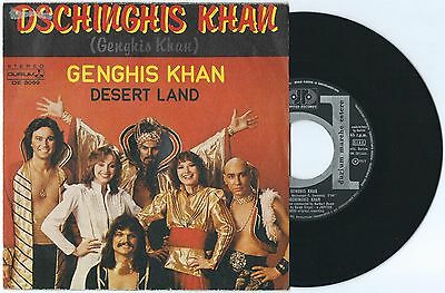 "7"" DSCHINGHIS KHAN Genghis Khan (Durium 79) Eurovision Cosmic disco unique cv EX"