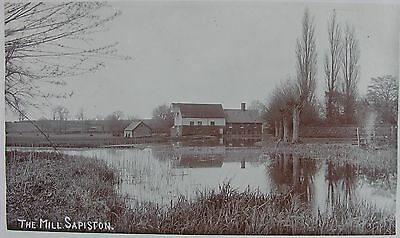 The Mill At Sapiston Near Ixworth Suffolk Early Rp Pc - Scarce Pc Location