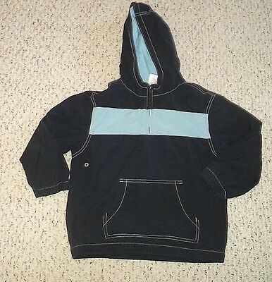 Navy Gymboree Hoodie w/ Lt. Blue Stripe, Tractor Gear, Small or 5 6, VGUC