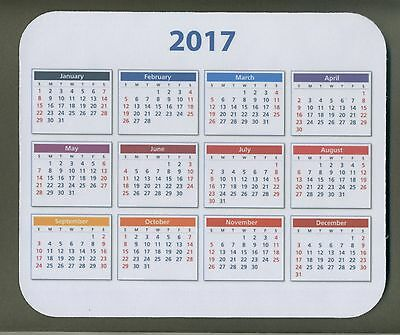 """2017 CALENDAR  MOUSE PAD 1/4"""" thick   *FREE SHIPPING"""