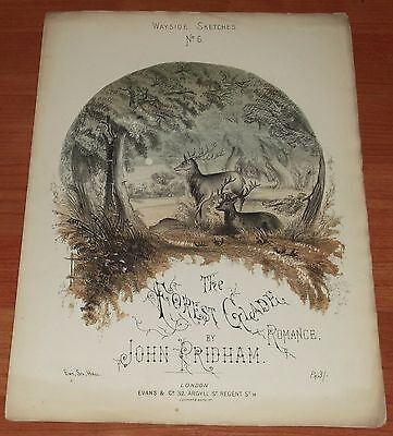 Victorian Pictorial Sheet Music..the Forest Glade.