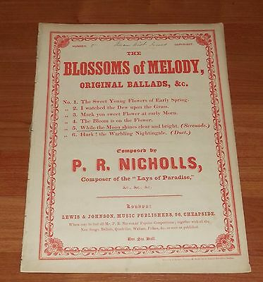 Victorian Sheet Music..the Blossoms Of Melody.