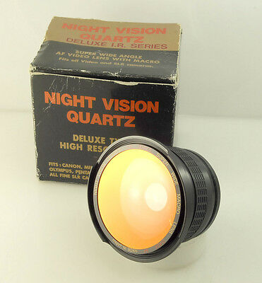 Night Vision Quartz IR High Res Super Wide lens, 0.42x for both SLRs and Video